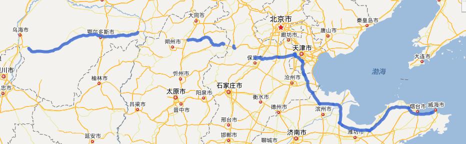 G18荣乌高速公路线路图示