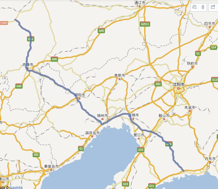 G16丹锡高速公路线路图示