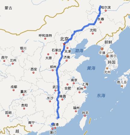G45大广高速公路线路图示