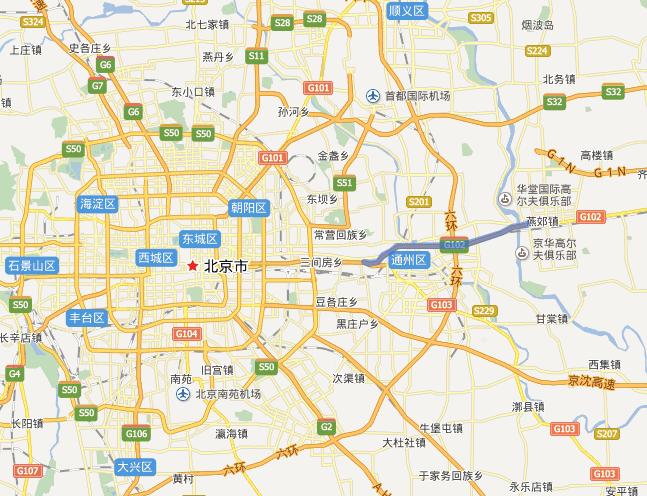 通燕高速公路线路图示