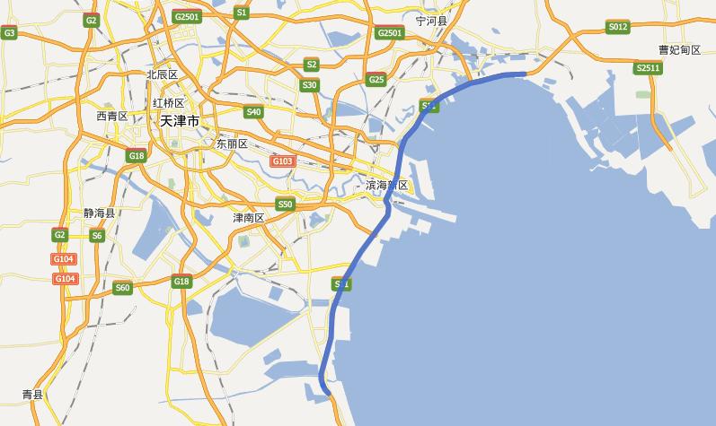 海滨高速公路线路图示