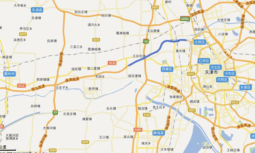 津保高速公路线路图示
