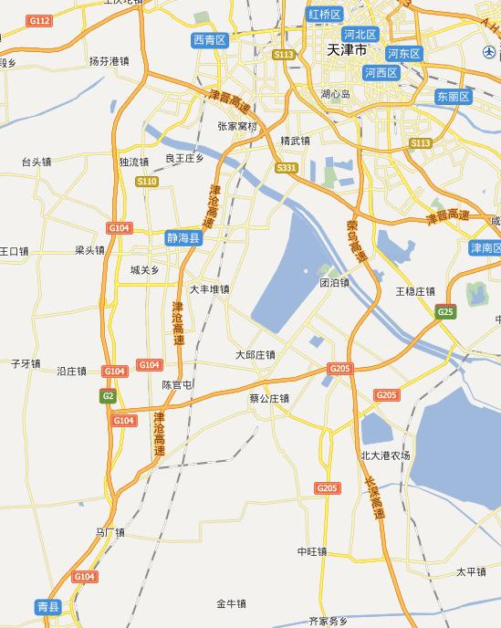 津沧高速公路线路图示