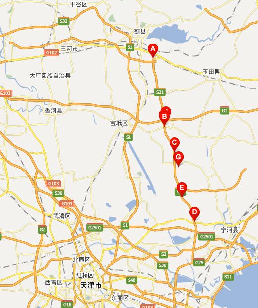 塘承高速公路线路图示