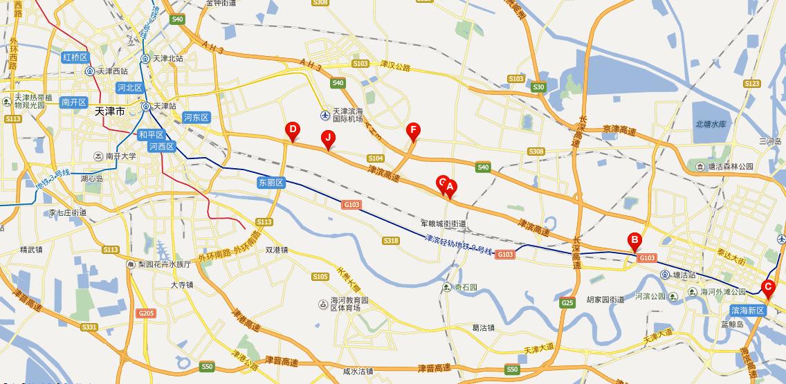 津滨高速公路线路图示