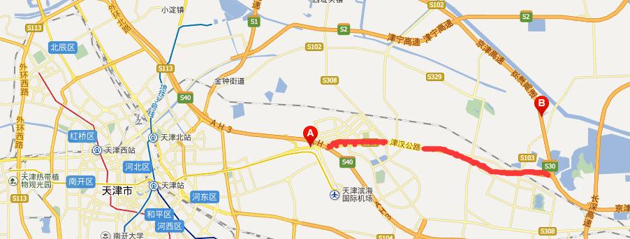 津汉高速公路线路图示