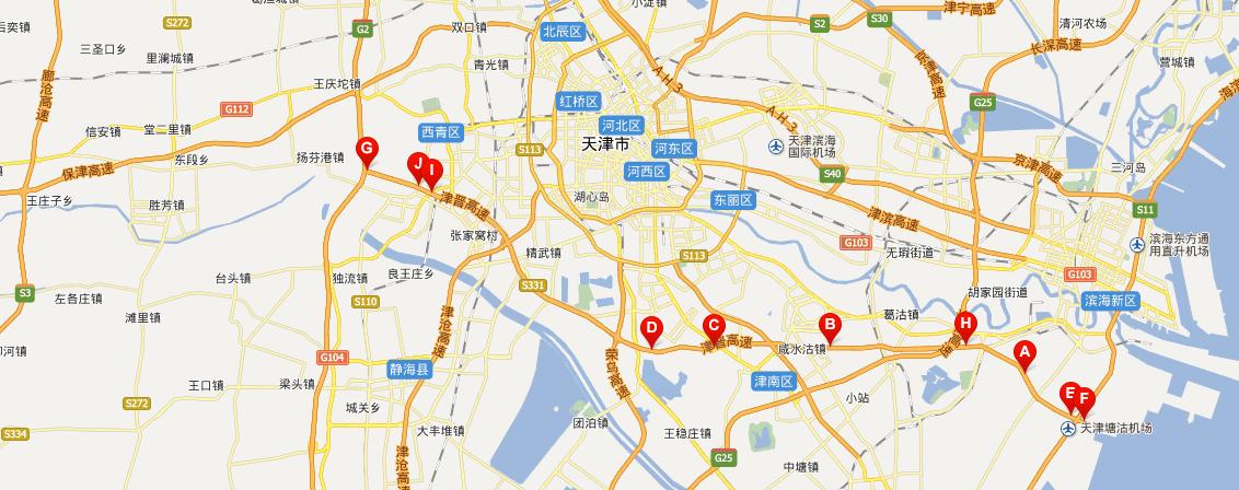 津晋高速公路线路图示