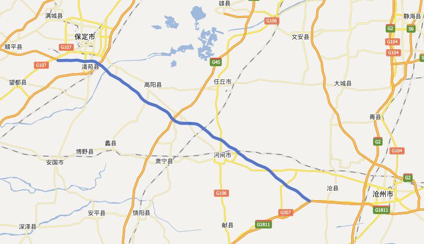 G1812保沧高速公路线路图示