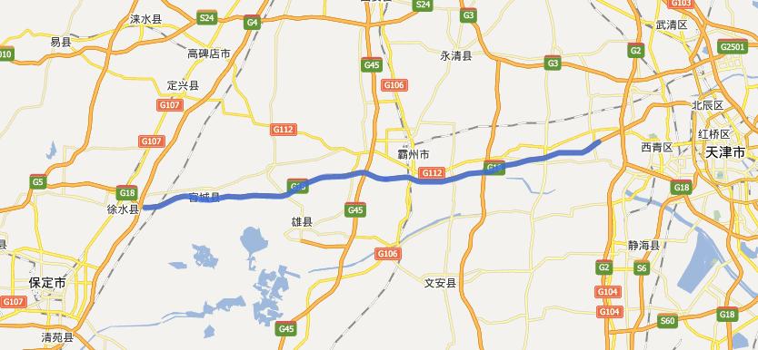 保津高速公路线路图示