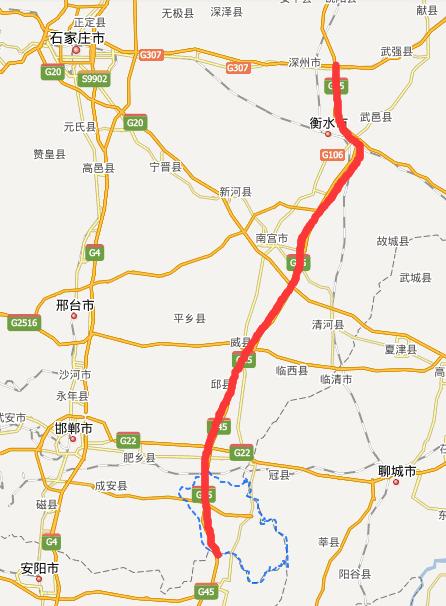 衡大高速公路线路图示