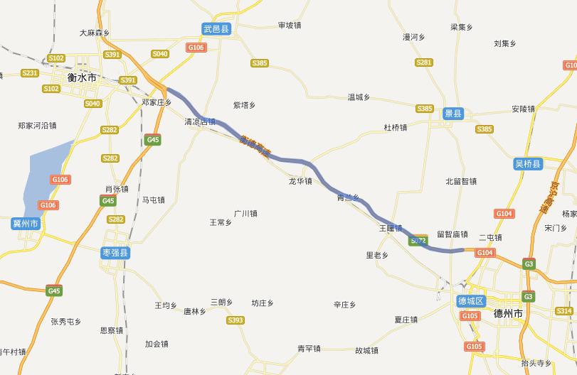 衡德高速公路线路图示