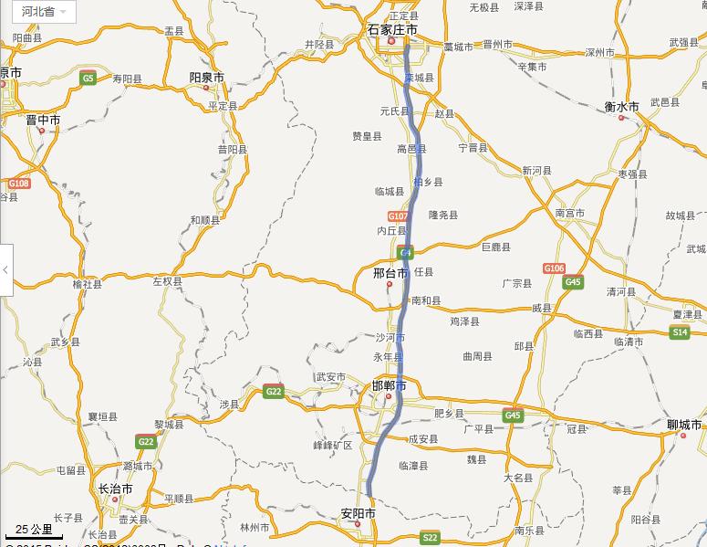 石安高速公路线路图示