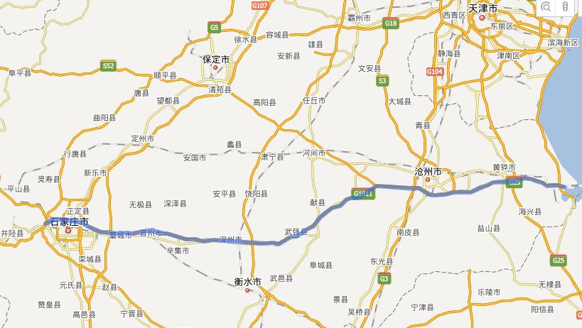 石黄高速公路线路图示