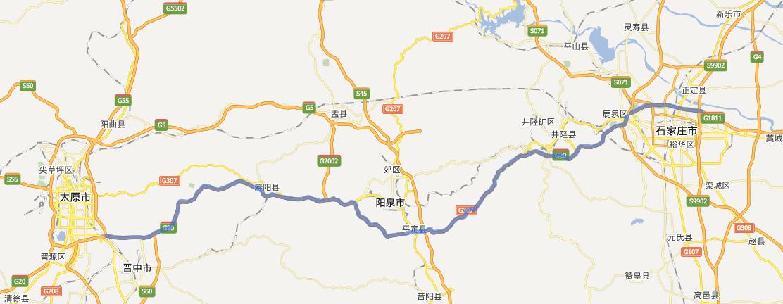 石太高速公路线路图示