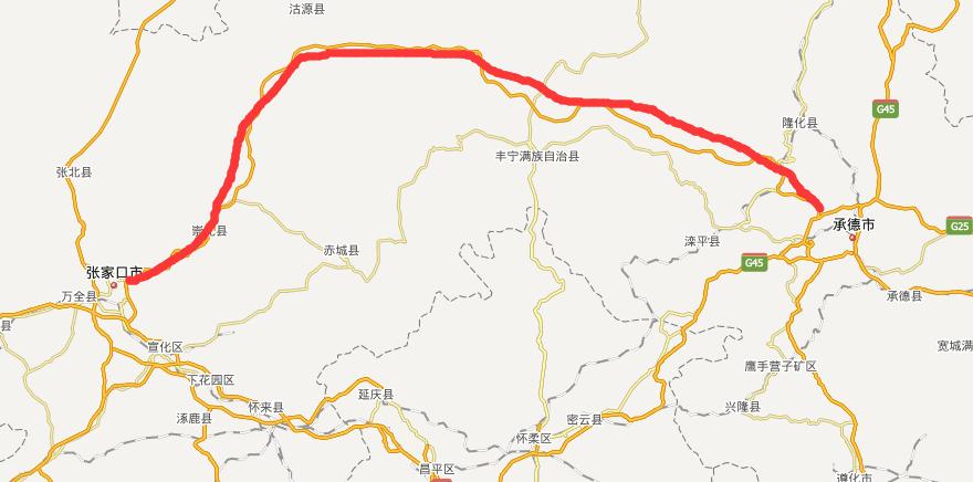 张承高速公路线路图示