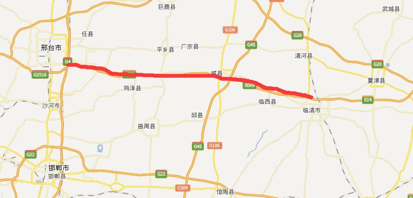 邢临高速公路线路图示
