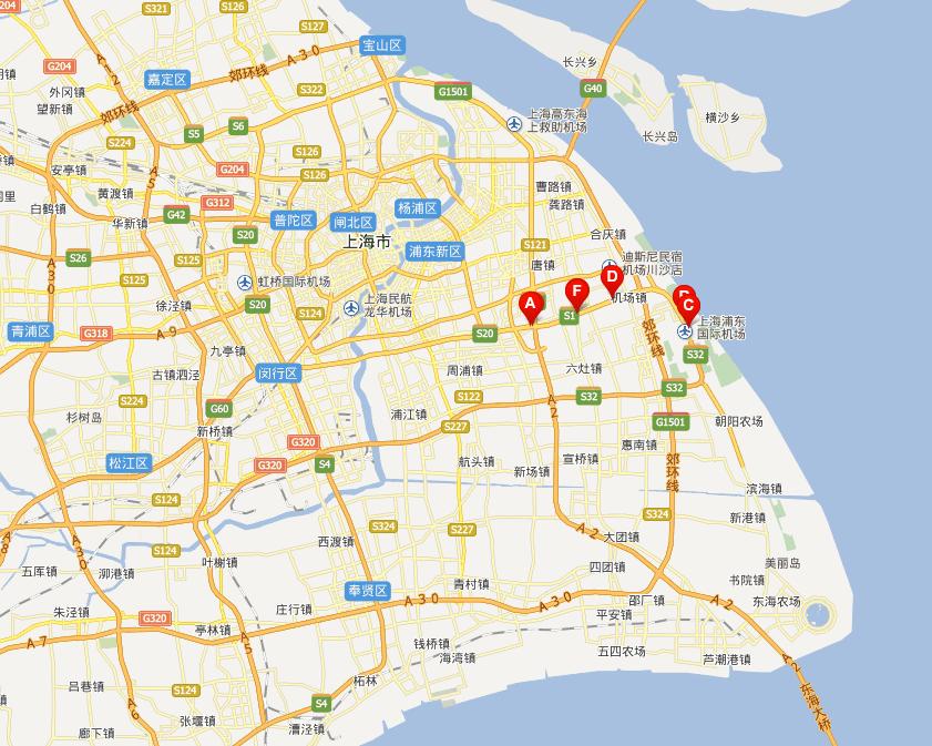 上海迎宾高速公路线路图示