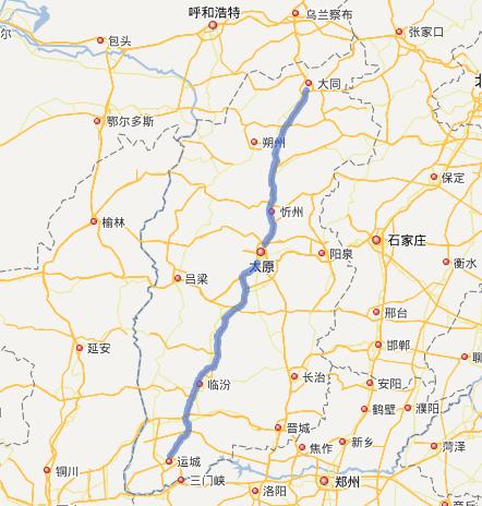 大运高速公路线路图示