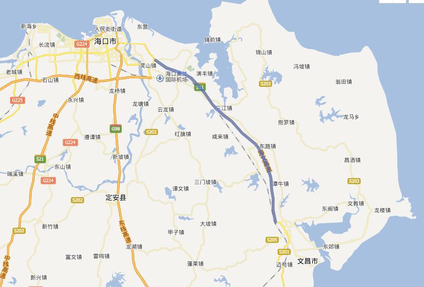海文高速公路线路图示