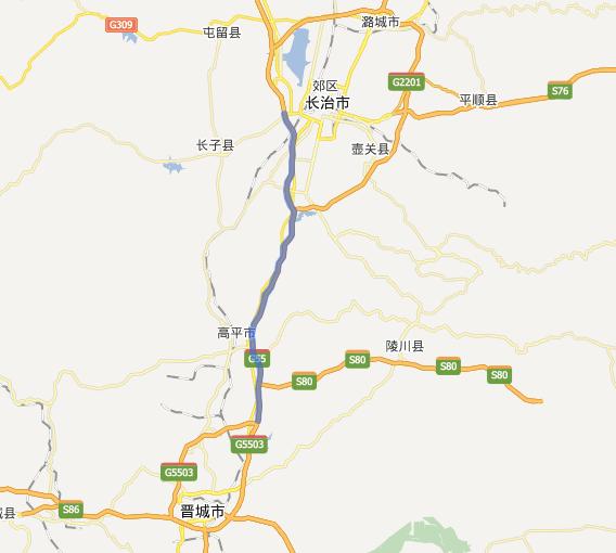 长晋高速公路线路图示