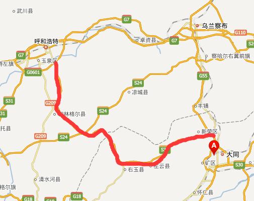 大呼高速公路线路图示