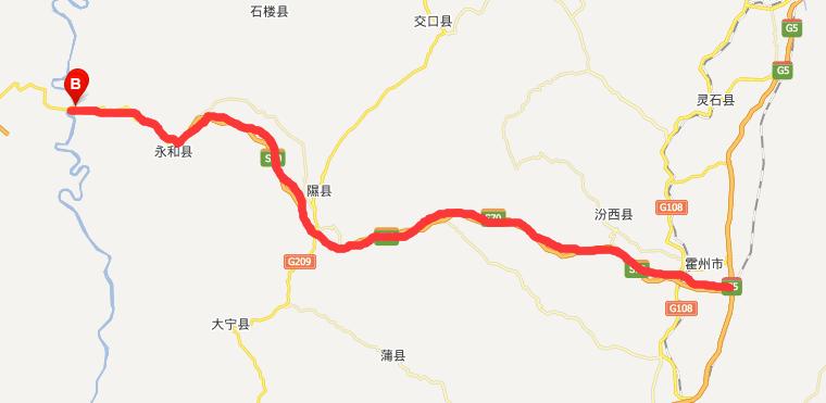 霍永高速公路线路图示