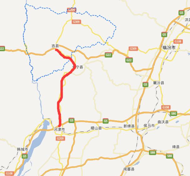 吉河高速公路线路图示