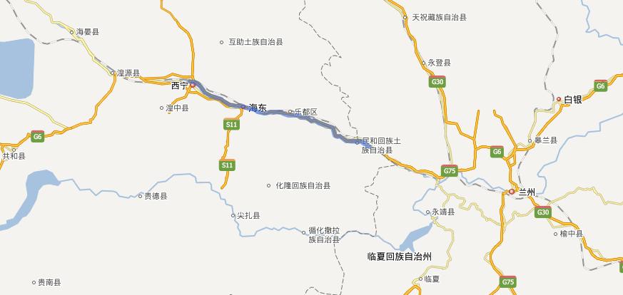 兰西高速公路线路图示