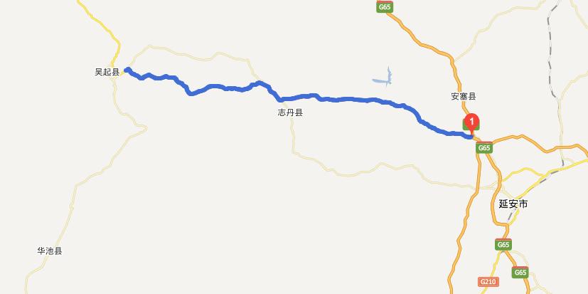 延志吴高速公路线路图示