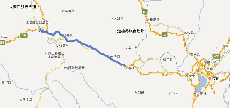 楚大高速公路线路图示