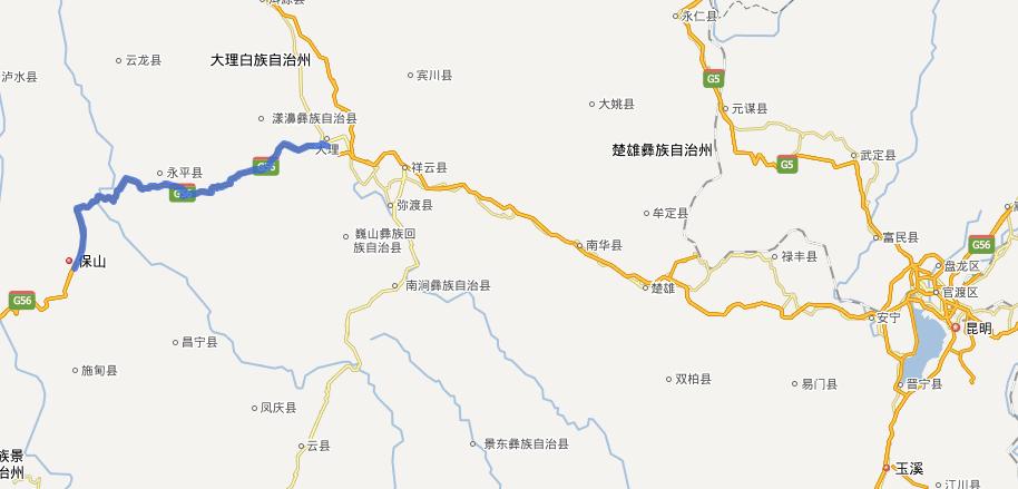 大保高速公路线路图示