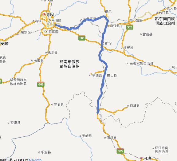 贵新高速公路线路图示