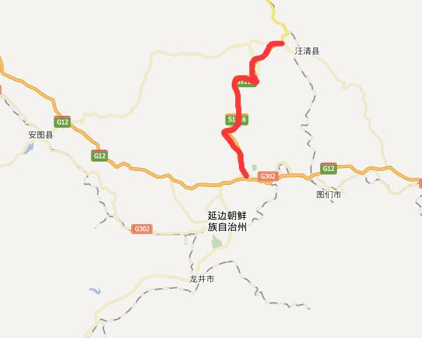 汪延高速公路线路图示