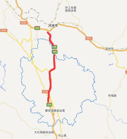 河都高速公路线路图示