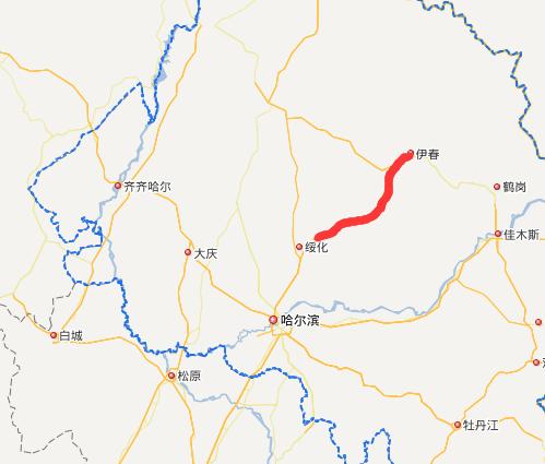 伊绥高速公路线路图示
