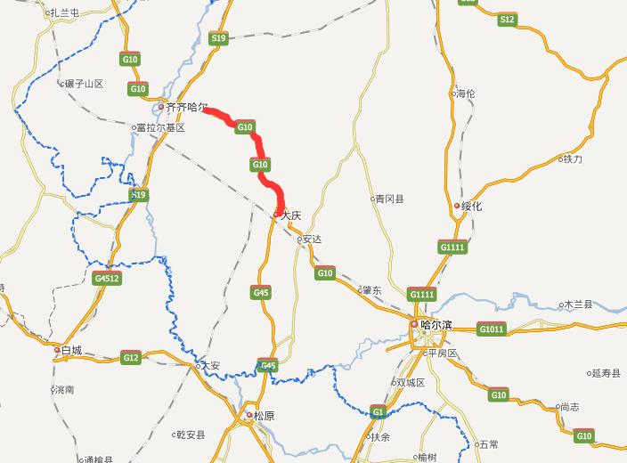 大齐高速公路线路图示