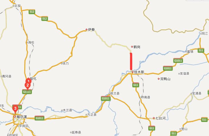 鹤佳高速公路线路图示