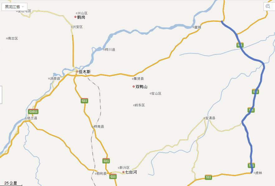 建虎高速公路线路图示