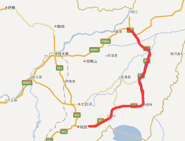 建鸡高速公路线路图示