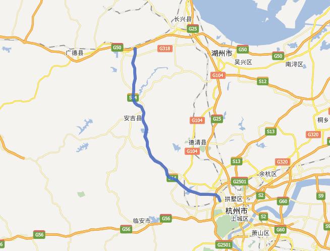 杭长高速公路线路图示