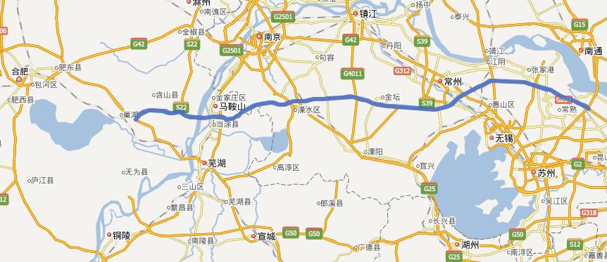 常合高速公路线路图示