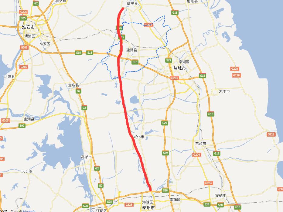 阜兴泰高速公路线路图示