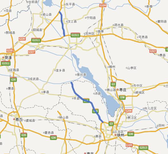 济徐高速公路线路图示