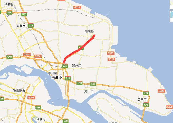 通洋高速公路线路图示