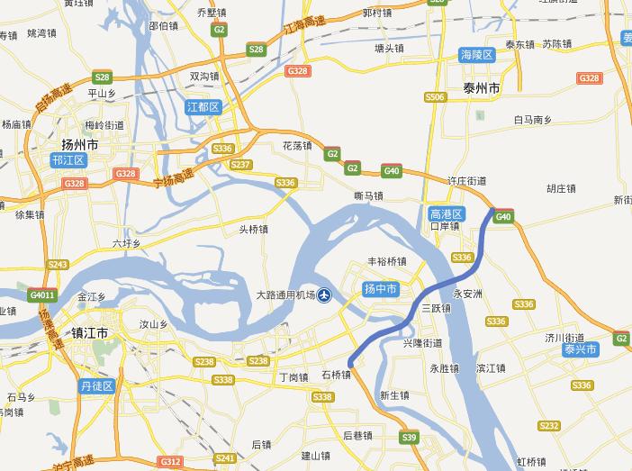 泰镇高速公路线路图示