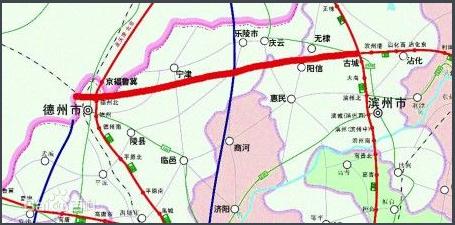 滨德高速公路线路图示