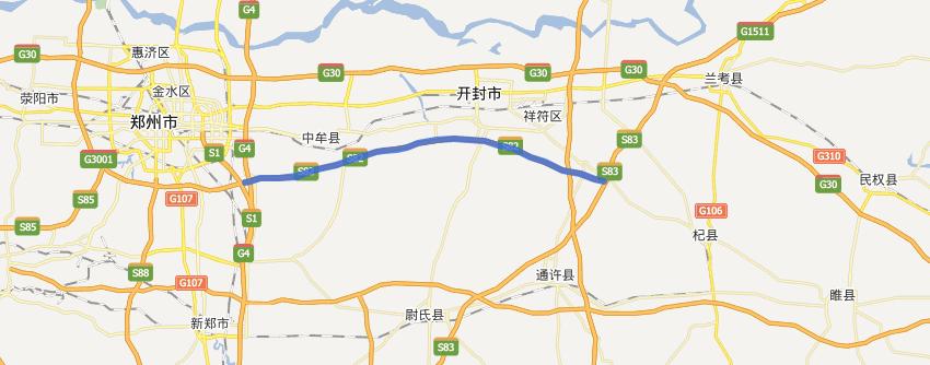 郑民高速公路线路图示