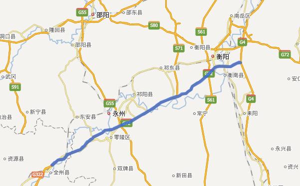 衡枣高速公路线路图示