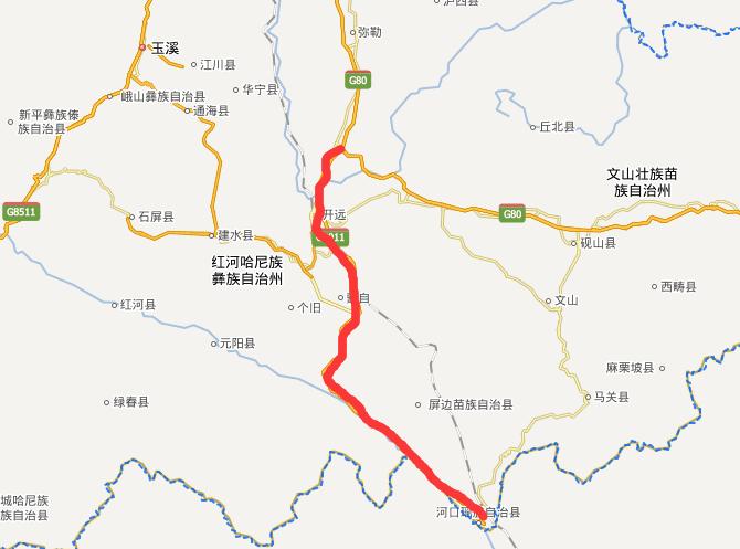 开河高速公路线路图示