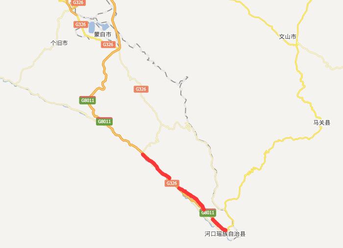新河高速公路线路图示